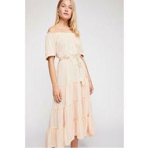 Free People Spell on You Midi Almond Dress•szS